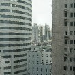Zwischen zwei Wolkenkratzern