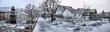 Verschneiter Garten