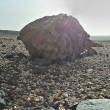 Stein in Wüstenlandschaft II