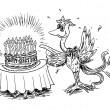 Geburtstag des Phoenix-Vogels