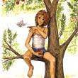 Im Apfelbaum, coloriert