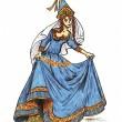 Prinzessin in Blau