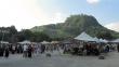 Markt vor Festungskulisse