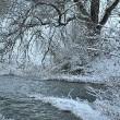 Winterliche Flussmündung
