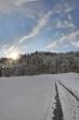 Sonne hinter dem Berg