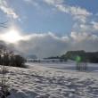 Küssaberg im Winter am Abend