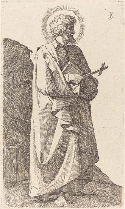 Friedrich Overbeck: St. Philip Neri, Radierung von 1826 (Quelle: Wikimedia Commons, gemeinfrei)