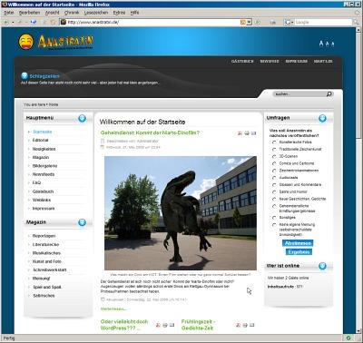 Die klassische Anastratin-Webseite
