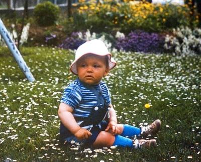 """Martin Dühning als Blumenkind 1976, in der """"guten, alten Zeit"""" ..."""