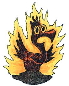 Brennender Phoenix