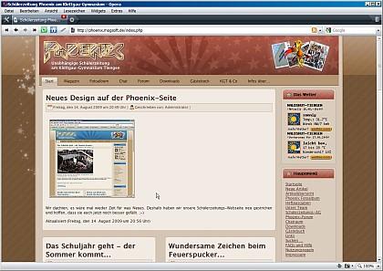 Himbeer-Phoenix: So sieht die geheime himbeerfarbige Version der SZ-Phoenix-Seite aus.