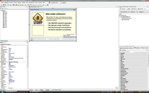 Ein Niarts-Progrämmli in Codegear Delphi 2009 - die IDE füllt immer den ganzen Bildschirm.