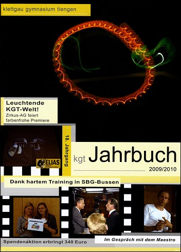 So sieht es aus: das Cover des KGT-Jahrbuchs 2009/2010!