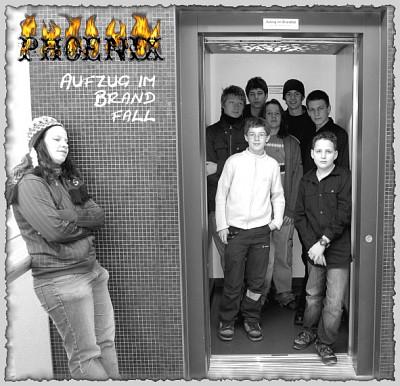 "Cover der CD ""Aufzug im Brandfall"""