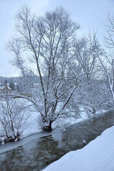 Schnee an der Steina