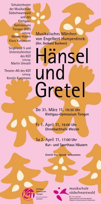 """Plakat zu """"Hänsel und Gretel"""""""