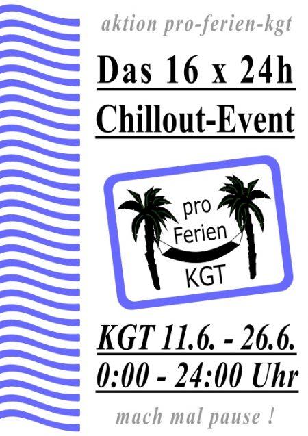 Offizielles Plakat zur Pro-Ferien-KGT-Aktion