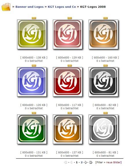 Das beliebte 2008er-KGT-Logo gibt es nun in einigen neuen Farbvarianten.