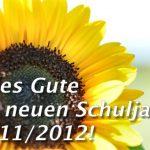 Grußworte zum Schuljahresbeginn 2011/2012