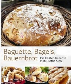 """Das Brotbackbuch """"Baguette, Bagels, Bauernbrot"""" bietet viele schöne Illustrationen zu interessanten Brotrezepten."""