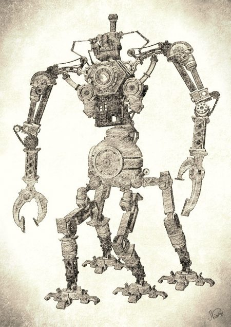 """Für die Anastratin-Ausgabe zum Thema """"Steampunk"""" setzt Niarts seine gesamte Grafikmaschinerie in Gang. Auch ein Steampunk-Comic soll es geben. Freie Grafikbeiträge sind auch hier willkommen."""