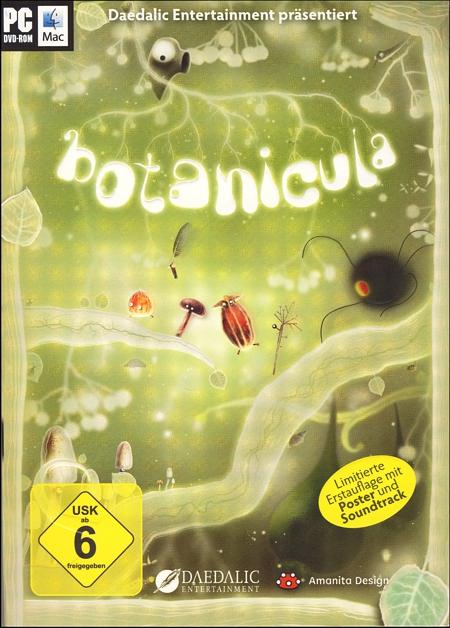 Cover der ersten Auflage von Botanicula - mit Poster und Soundtrack.