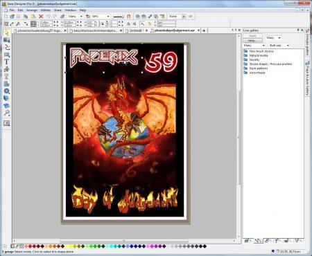 Cover-Montage im Vektorzeichenprogramm Xara Designer Pro - die Elemente lassen sich so nichtdestruktiv ändern und auflösungsunabhängig für spätere Projekte weiterverwenden.
