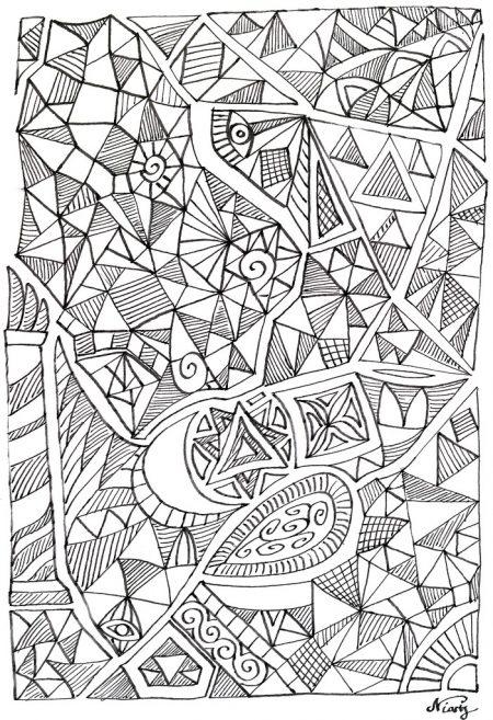 Das jüngste Werk im Skizzenbuch ist eine geometrische Formstudie. Sie verkörpert die unvorhersehbaren thematischen Wendungen der Eröffnungskonferenz im Schuljahr 2012/2013.