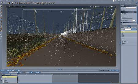 Arrangieransicht von DAZ Carrara 8.1 - das Programm gibt es wie alle anderen Programme von DAZ nicht in deutscher Sprache, was allerdings für die Produktion von 3D-Grafiken auch kaum eine Rolle spielt.