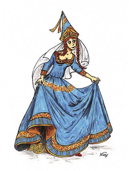 Junge Prinzessin in Blau