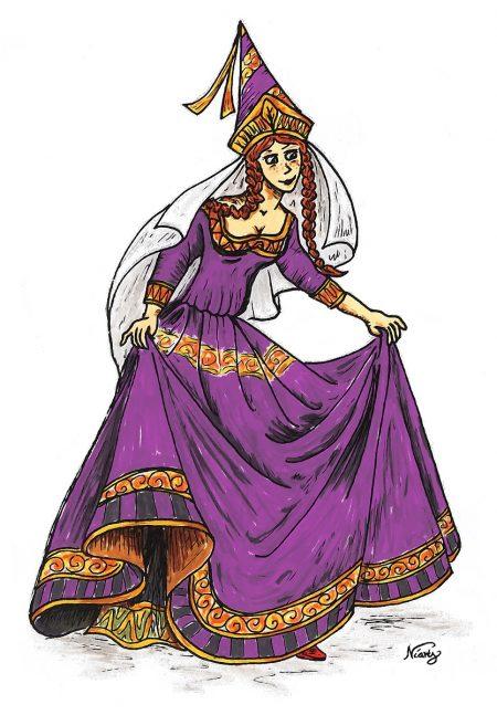 Dritte und letzte Fassung mit der Prinzessin in purpurnem Kleid