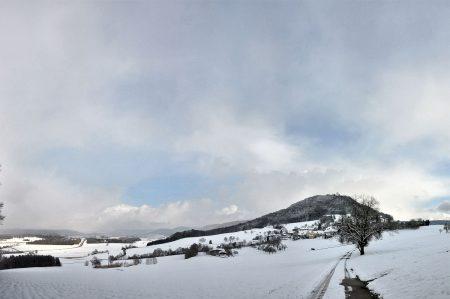 Winterliche Klettgau-Landschaft am 9. Februar 2013 (Foto: Martin Dühning)