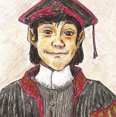 Alexander Czerdano als Dekan der Universität Sanarth