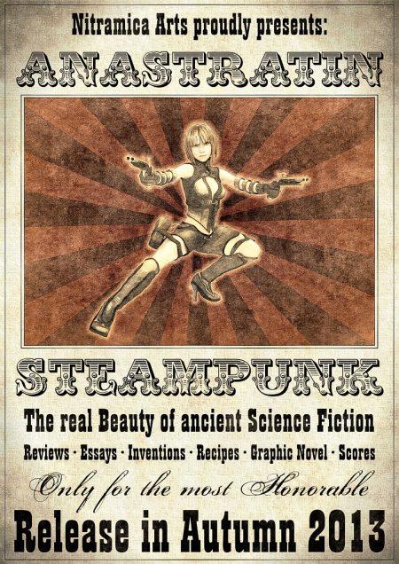 Offizielles Plakat zur Steampunk-Druckausgabe der Anastratin