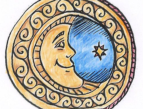 An den Mond - Titelzeichnung von Martin Dühning
