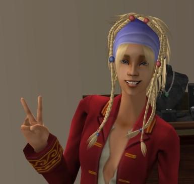 """Individuelle Piratenbraut aus """"Die Sims 2"""" - erstellt mit Fan-Mods."""