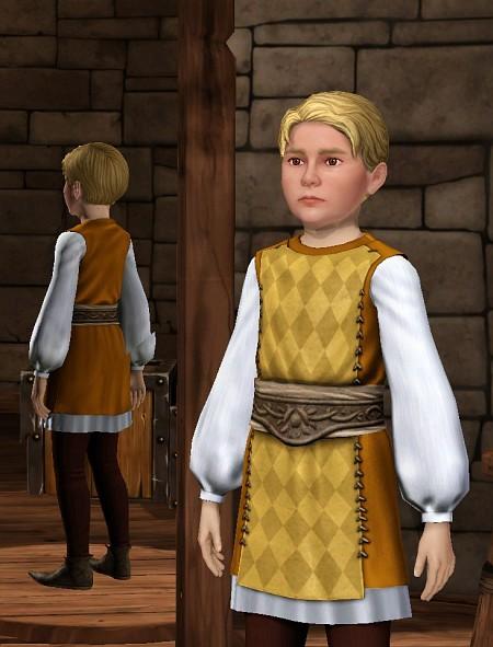 """Wenn Kinder in """"Die Sims Mittelalter"""" letztlich auch nur sterile NPCs sind, so sehen sie doch deutlich mehr nach Kind aus als die Knubbelnasen aus dem großen Bruder Sims 3."""