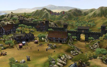 """Das Setting von """"Die Sims Mittelalter"""" holt noch mal alles aus der leicht angestaubten Grafikengine von Sims 3 heraus, leider lässt sich das Königreich äußerlich aber nicht anpassen und sieht immer gleich aus."""