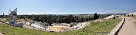 Das griechische Theater der antiken Polis von Syrakus zählt zu den größten seiner Art. (Foto: Martin Dühning)