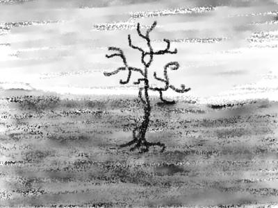Feld im Regen, 1995