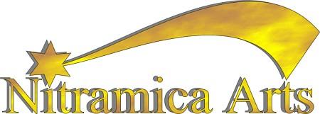 Eine frühe Form des Nitramica-Arts-Logos von 1995/1996, erstellt mit CorelDraw 4.
