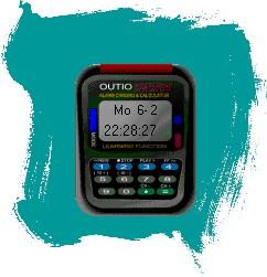 """Viele kleine Niarts-Programme waren Auftragsarbeiten für Freunde - wie beispielsweise das längst vergessene """"OUTIO Clock"""", das unter Windows 3.1 eine kleine Digitaluhr auf der Arbeitsfläche anzeigte."""