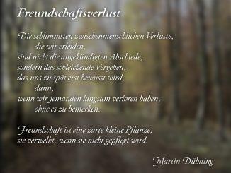Freundschaftsverlust (Text und Grafik: Martin Dühning)