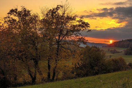 Abendsonne in der Baltersweiler Herbstlandschaft (Foto: Salome Lainarkunion)