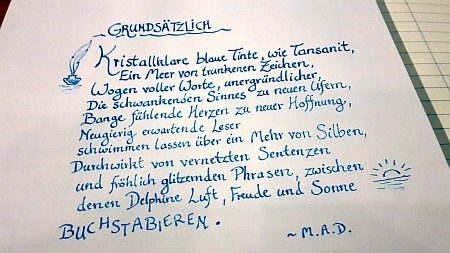 """Kalligrafie zu """"Grundsätzliches"""""""