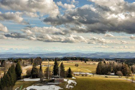 Alpenpanorama vom Schwarzwald aus, Ostermontag 2016 (Foto: Martin Dühning)