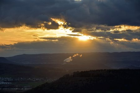 Leibstädter Vulkan im Zwielicht (Foto: Martin Dühning)