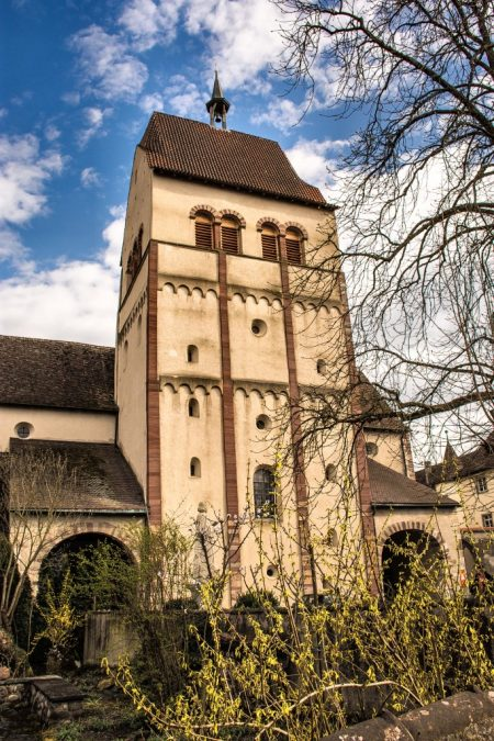 Hauptturm des Münsters in Mittelzell am 30. März 2016 (Foto: Martin Dühning)