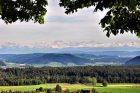 Alpensicht und Rheinabend