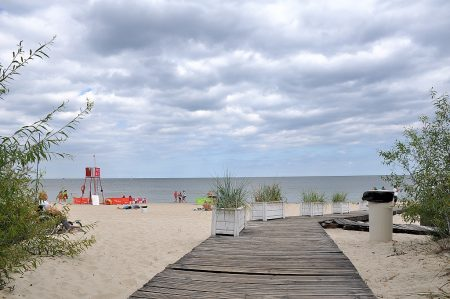 Idyllischer Ostseestrand bei nicht ganz so idyllischem Wetter (Foto: Martin Dühning)
